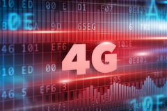 4G Concept. With blue background blue text Royalty Free Stock Image