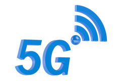 5G concept 3D concept. 5G concept on White Background Stock Image