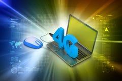 4G, concept d'Internet Photographie stock libre de droits