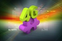4G, concept d'Internet Image stock