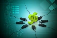 3G, concept d'Internet Image libre de droits