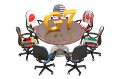 G7 concept, 3D rendering Royalty Free Stock Photo