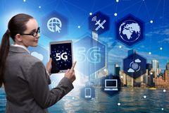 The 5g concept of internet connection technology royalty free stock photo