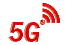 5G concept. On White Background Stock Photo