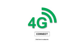 4 G concept. On white background Stock Photography