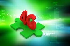 4G, concetto di Internet Fotografie Stock Libere da Diritti