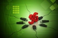 3G, concetto di Internet Fotografia Stock