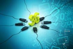 3G, concetto di Internet illustrazione di stock