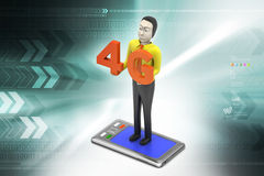 4G, concetto di Internet Fotografia Stock