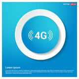 4G connection icon. This Vector EPS 10 illustration is best for print media, web design, application design user interface and infographics with well composed royalty free illustration