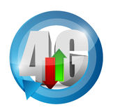 4g connection. illustration design over. A white background Royalty Free Stock Photography