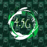 5g connection. The standard of communication in Mobile technologies. Seamless background with sim cards and splashes of bright pai. Nt. Grunge style. 10 eps vector illustration