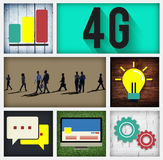 4G Connection Technology Internet Network Concept Royalty Free Stock Photography