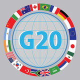 G20 countries flags or flags of the world  element design Royalty Free Stock Photography