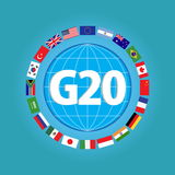 G20 countries flags or flags of the world element design. G20 countries flags or flags of the world (economic G20 countries flag) illustration . easy to modify stock illustration
