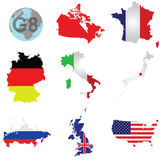 G8 Countries Royalty Free Stock Photo