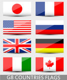 G8 countries flags Royalty Free Stock Photography