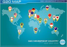 G20 country flags Stock Photography
