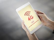 4G Cyfrowy Internetowej sieci technologii Wifi pojęcie Obrazy Royalty Free