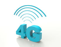 4G. 3d-concept-isolated on white background stock illustration