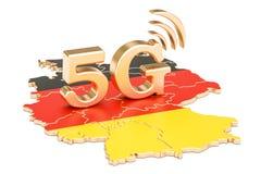 5G in 3D concept van Duitsland, Vector Illustratie