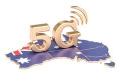 5G dans le concept d'Australie, rendu 3D Image stock