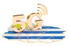 5G dans le concept de l'Uruguay, rendu 3D illustration libre de droits