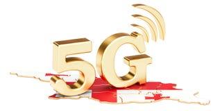 5G dans le concept de la Géorgie, rendu 3D illustration libre de droits