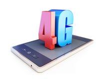 4g de tekst van smartphoneang 4g Royalty-vrije Stock Fotografie