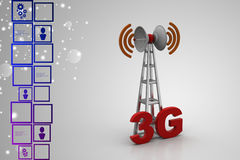 3G digital cellular telecommunication technology Stock Photos
