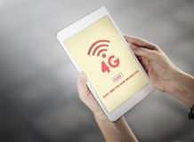 4G Digital Internet Network Technology Wifi Concept Royalty Free Stock Images
