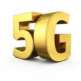 5G dorato Fotografia Stock