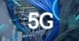 5G e cerchi futuristici 4k stock footage