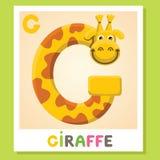 G est pour la girafe Lettre G Girafe, illustration mignonne blanc animal de vecteur de fonds d'image d'alphabet Photo stock