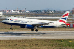 G-EUUB British Airways Aerobus A320-232 Zdjęcie Stock