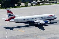 G-EUUF British Airways Aerobus A320-232 Obraz Royalty Free