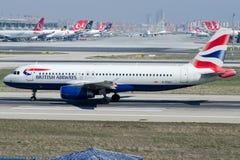G-EUUJ British Airways, Airbus A320-232 Foto de Stock