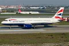 G-EUYD British Airways, Airbus A320 - 200 Imagens de Stock