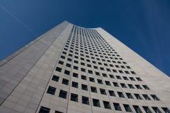 G för blåa himlar för skyskrapa för Highrise för Leipzig panoramatorn utomhus Arkivfoto