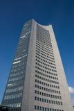G för blåa himlar för skyskrapa för Highrise för Leipzig panoramatorn utomhus Fotografering för Bildbyråer