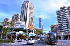 G för Gold Coast ljusstång - Queensland Australien Arkivbilder
