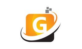 G för initial för teknologirörelsesynergi Arkivfoto