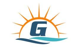 G för vågsolnedgånginitial Royaltyfri Bild