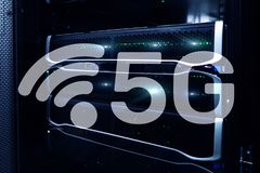 5G Fast Wireless internet connection Communication Mobile Technology concept stock illustration