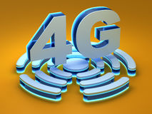 4G - fourth generation telecommunications technology. 4G (fourth generation telecommunications technology) - computer generated image (3D render Vector Illustration