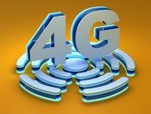 4G - fourth pokolenie telekomunikacj technologia Obrazy Royalty Free