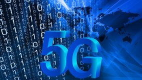 5G future security world mobile network royalty free illustration