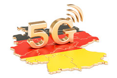 5G in Germany concept, 3D. Rendering Stock Photos