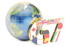 G7 global concept, 3D rendering Stock Photography