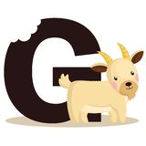 G for Goat Royalty Free Stock Photo